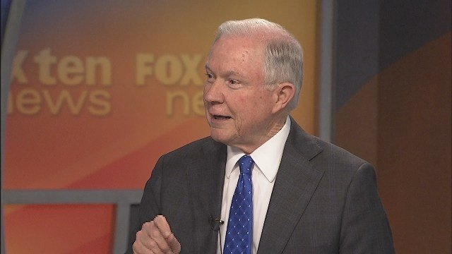 Sen. Jeff Sessions is pictured in the FOX10 News Studios in this file photo.
