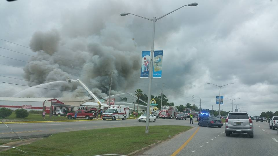 Video shows Gulf Shores furniture store burning FOX 8
