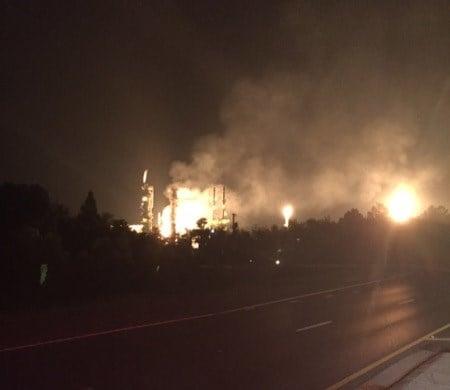 Enterprise Products gas explosion (Photo: Pascagoula Fire Dept.)