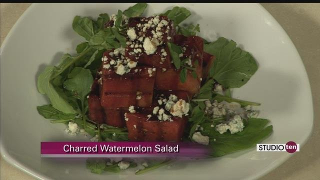Charred Watermelon Salad