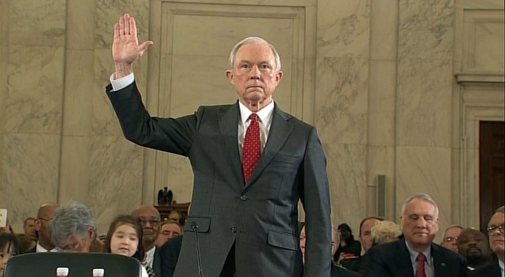 Jeff Sessions, nominee for U.S. attorney general, is sworn in during confirmation hearings in Washington. D.C. (CNN)