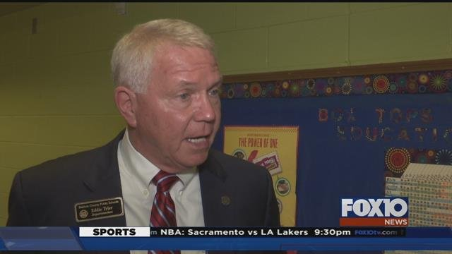 Baldiwn County Schools Superintendent Eddie Tyler up for second evaluation. Source: Lee Peck, FOX 10 News