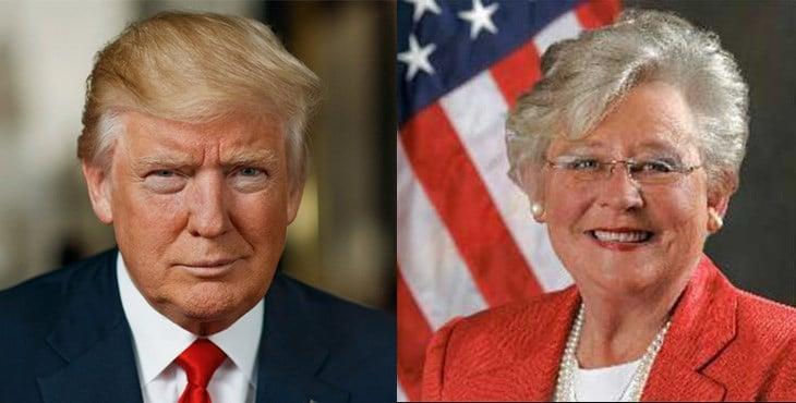 President Donald Trump and Alabama Gov. Kay Ivey