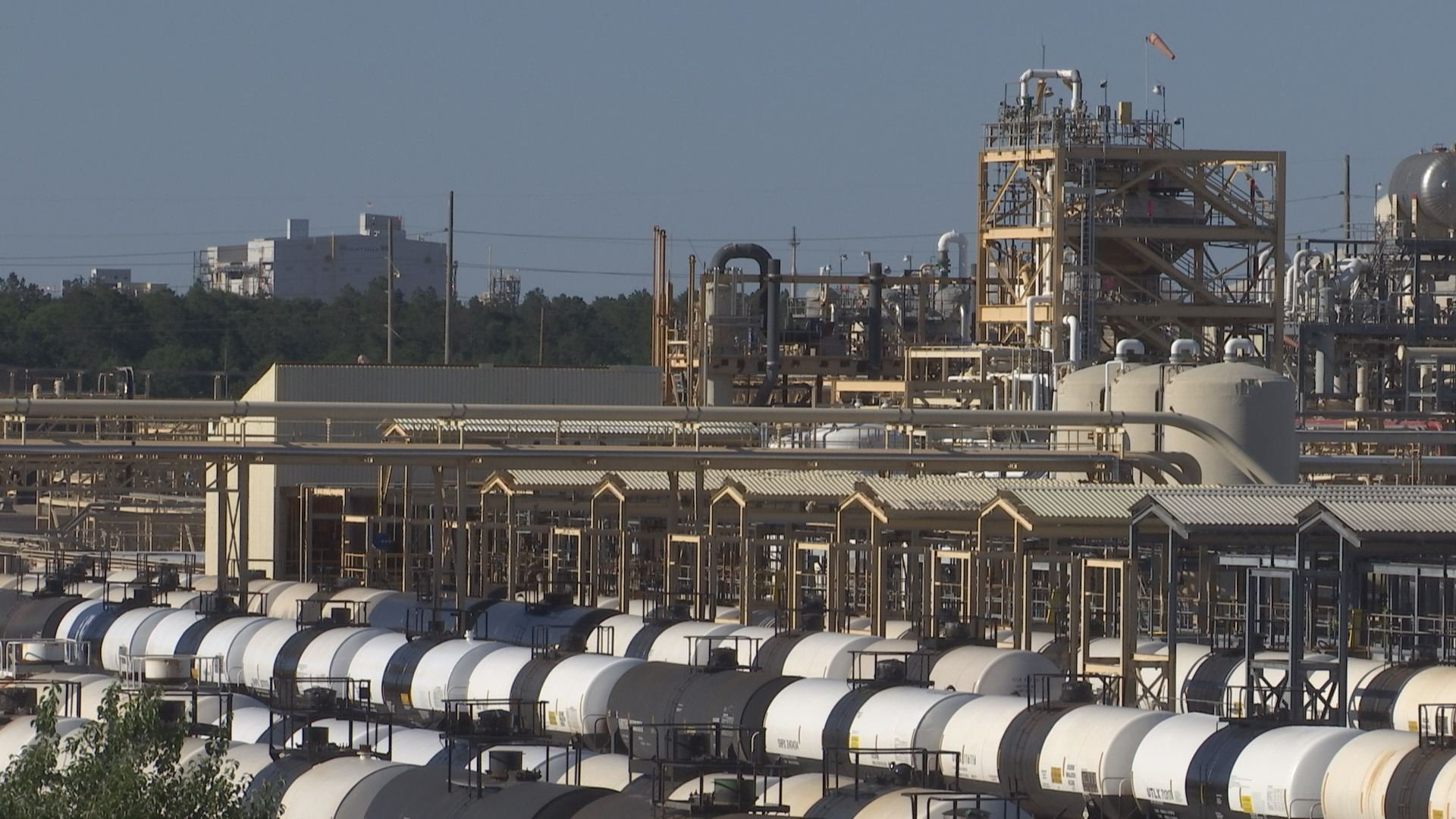 The Olin Chlor Alkali Products location in McIntosh, Ala., has been at the center of controversy since the facility leaked 738 pounds of chlorine gas into the air on February 15. (Credit: Franz Barraza, Chief Photographer, WALA FOX10 News)