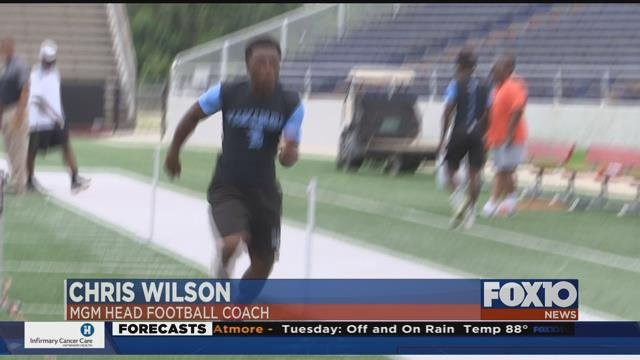 Mock NFL-style combine comes to Mobile. (FOX10 News)