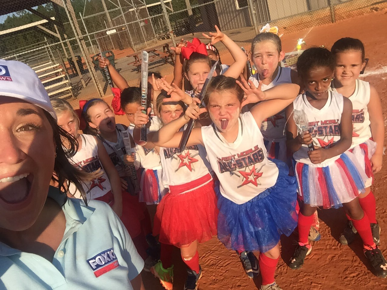 West Mobile 6U All-Star softball team poses for a picture