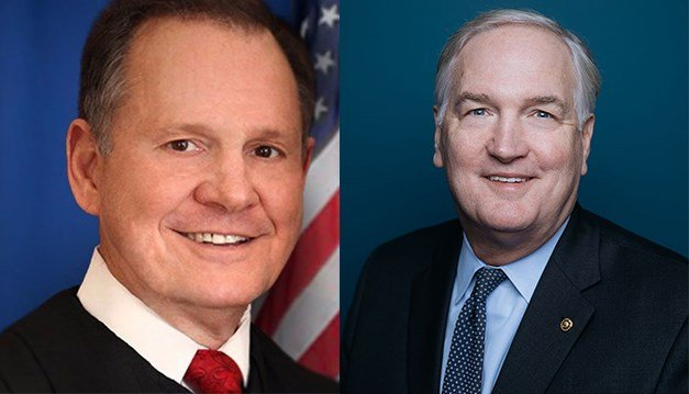 Former Chief Justice Roy Moore leads Luther Strange in FOX10 News poll (Graphic: WALA)