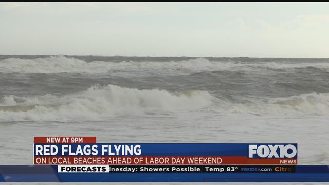 Gulf Shores feeling slight impact from Harvey. Source: Lee Peck, FOX 10 News