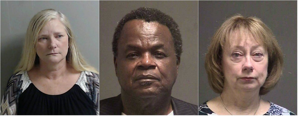 Marylynn Stillions, Arden Farley and Angelyn Vaughan were arrested. (Photos courtesy OCSO)