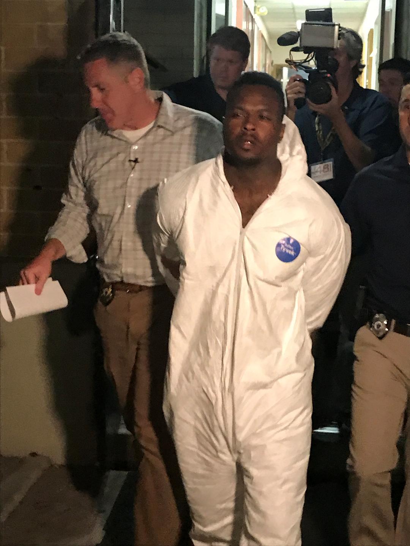 Murder suspect Richard Jones being taken to Metro Jail. Source: MPD
