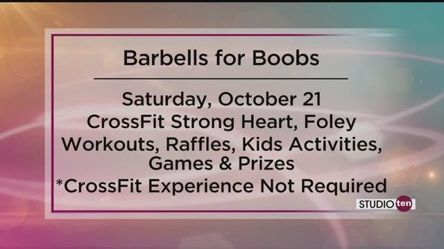 You Can Get Your Workout On Have The Chance To Win Prizes And Support A Good Cause Barbells For Boobs Is Coming Crossfit Strong In Foley