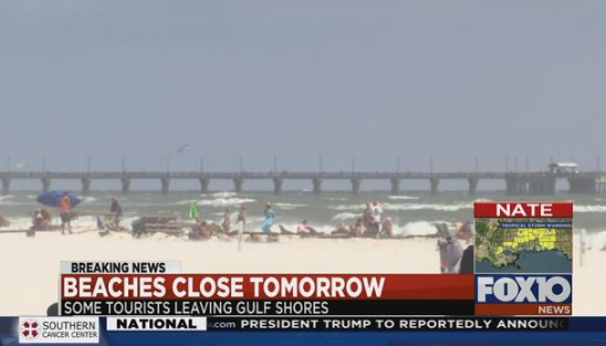 City of Orange Beach issues state of emergency. Photo: FOX10 News
