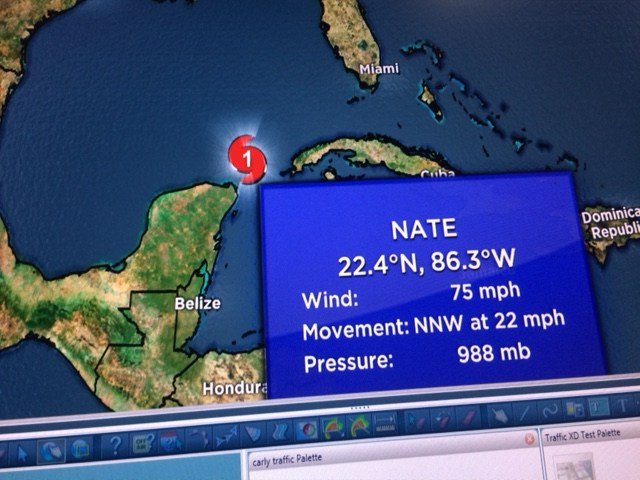 Tropical Storm Nate is now Hurricane Nate