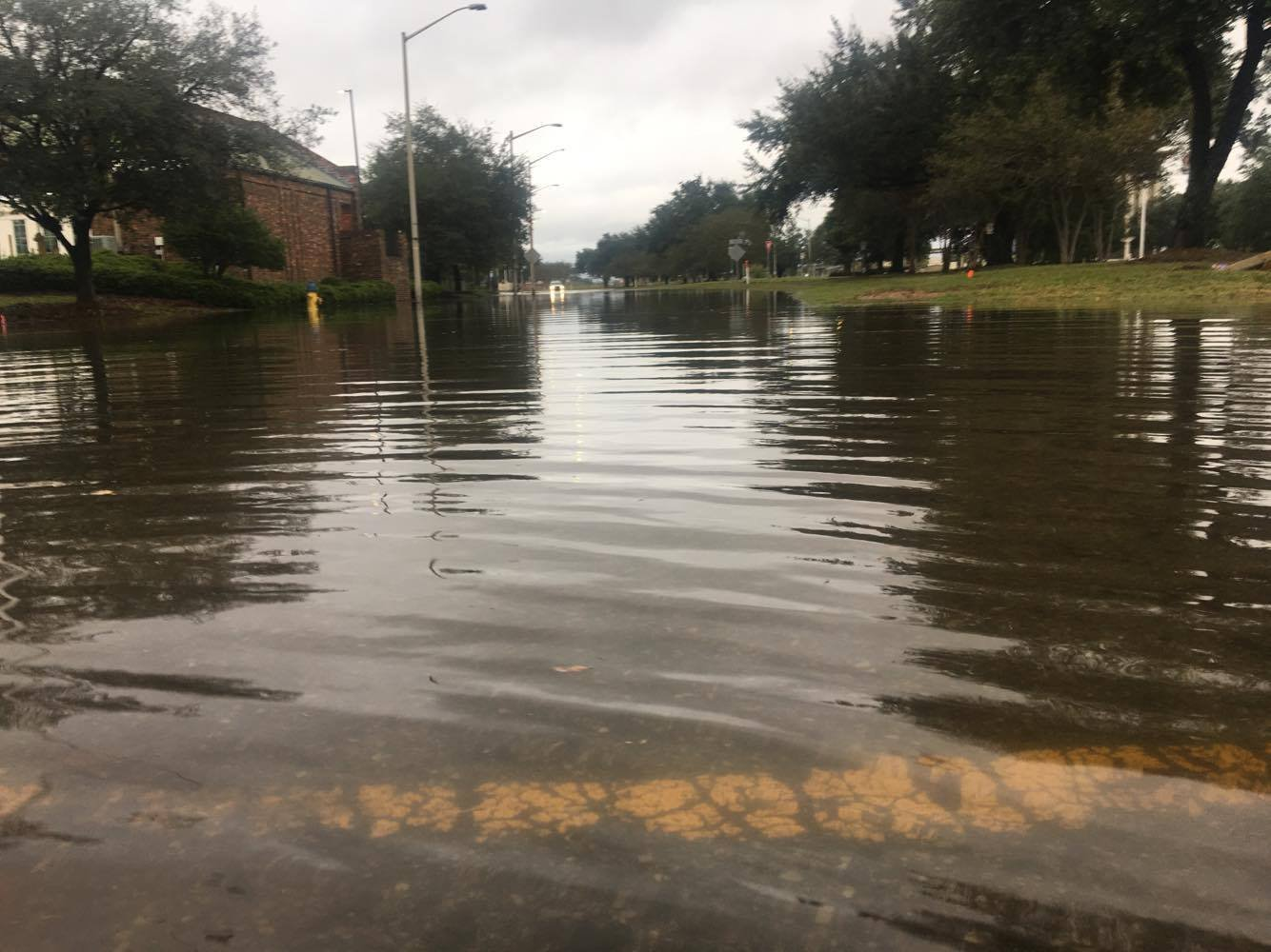 Water on St. Louis Street in downtown Mobile, hours after Nate passed through the region. (Photo: Rodney Rocker, FOX10 News)