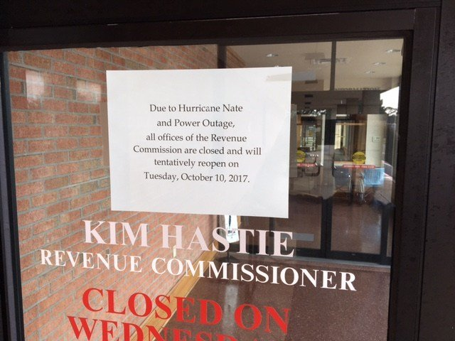 Mobile County Revenue Commission offices closed on Monday, October 9.