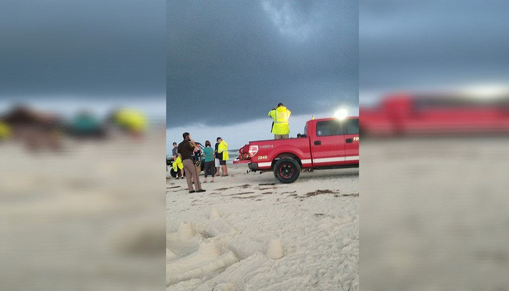 Gulf Shores Fire Department and Fort Morgan Volunteer Fire Department are working a water rescue near Kiva Dunes