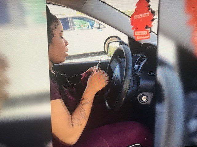 Woman capture on video leaves Mobile business without paying for services. Photo: FOX10 News Reporter Elizabeth Rodil