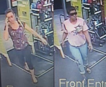 Daphne Police say these two women spent $1,800 buying gift cards with a stolen credit card. (Photos: Daphne PD)