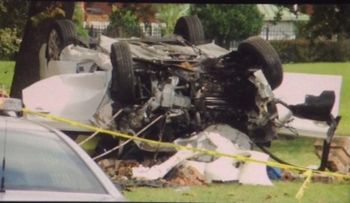 First responders are on the scene of an accident near Calloway-Smith Middle School in downtown Mobile.
