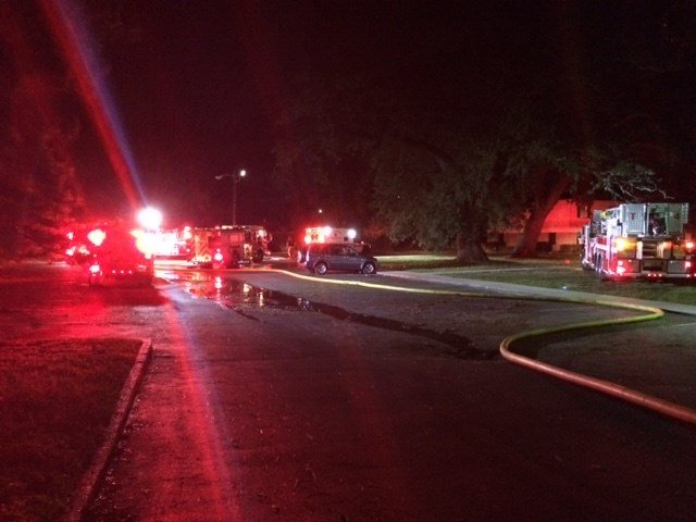 Mobile Fire-Rescue respond to Bay Oak Apartments. Source: Lee Peck, FOX 10 News