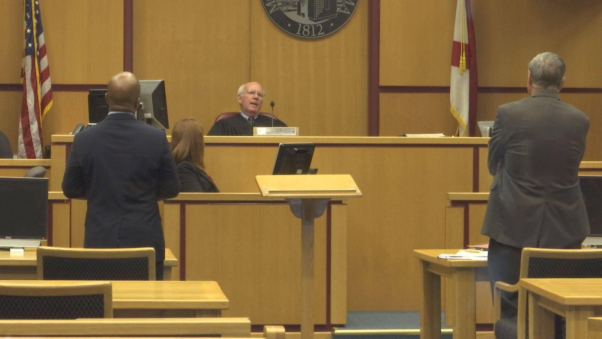 Attorneys representing Mobile and FOX10 News stood before Judge Rick Stout Friday morning, November 3. (Credit: Daeshen Smith, WALA)