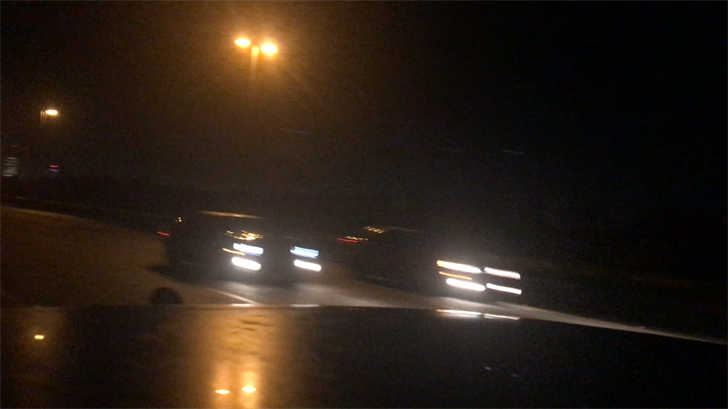 Another pair of cars racing each other on I-165 around 2 a.m. Saturday morning, October 28. (Credit: Franz Barraza, WALA FOX10 News)