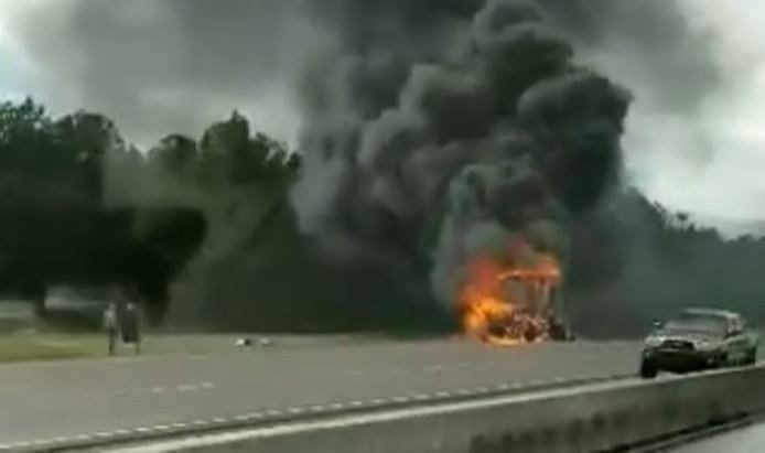 I-10 truck fire (FOX10 viewer submission)
