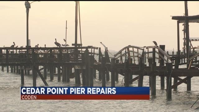 Cedar Point Pier repairs (FOX10 News)