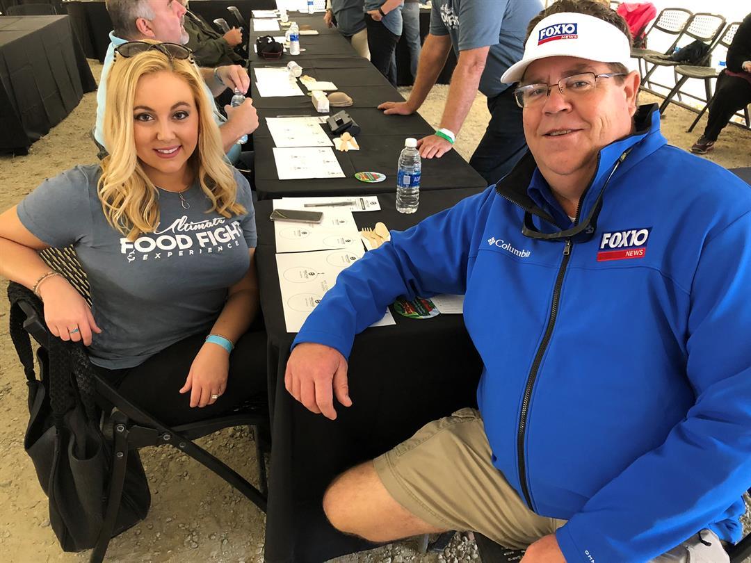 Celebrity judges Devan Coffaro and Hal Scheurich (Photo: FOX10 News)