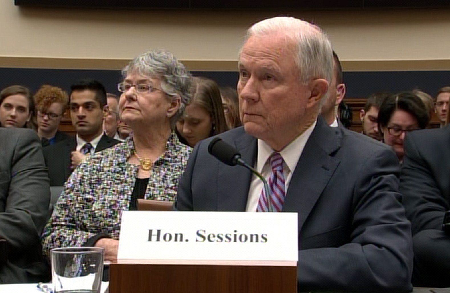 Attorney General Jeff Sessions testifies before the House Judiciary Committee Tuesday, Nov. 15, 2017. (Photo: CNN)