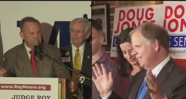 Roy Moore and Doug Jones (FOX10 News)