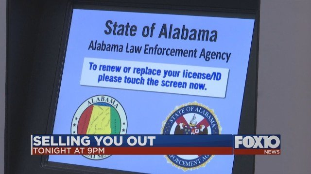 State of Alabama DMV: Selling You Out. Photo: FOX10 News