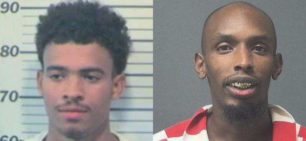 Darrell Octavius Brown, left, and Deion Booth (Photos: Mobile County Metro Jail and Atmore Police Department)