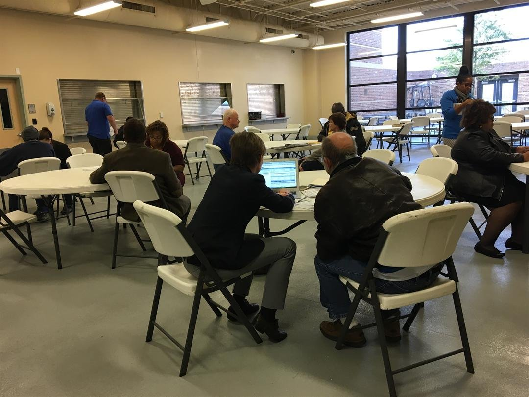 Legal professionals helped with voter restoration clinic (Photo: Asha Staples, Reporter)