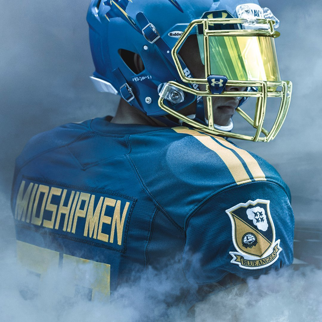 Navy wearing Blue Angels uniforms in Army-Navy Game