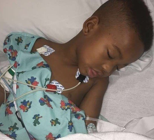Dortez Major Junior's mother posted these pictures of her son recovering at a local hospital after he was shot on Sunday, November 26th. Photo: Raven Crandle.