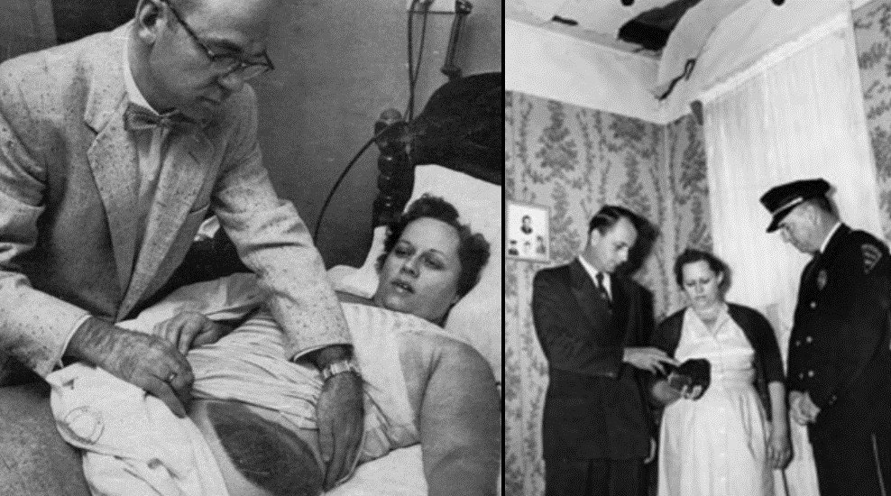 Ann Hodges was struck by a meteor in 1954 while she was inside her home in Sylacauga, Ala. (Photos courtesy Alabama Museum of Natural History)