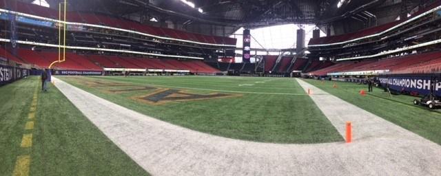 Mercedes-Benz Stadium in Atlanta (Bri MacNaught/FOX10 News)