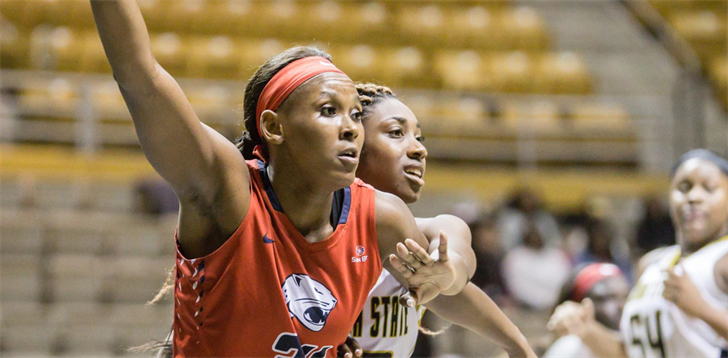 Chyna Ellis of South Alabama was named the Sun Belt Conference Women's Basketball Player of the Week (Dec. 5), as announced by the league office on Tuesday.  Photo: usajaguars.com