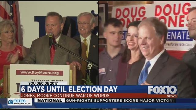 Roy Moore & Doug Jones continue to trade jabs on social media. Source: FOX 10 News