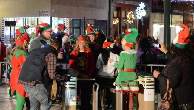 Elfapalooza 2014 attracted over 1,200 of Santa's elves to Beinville Square in downtown Mobile.