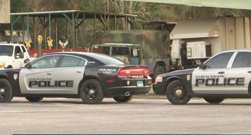 One person was shot in the hand during an incident in Chickasaw Saturday afternoon outside City Hall, a city official said. (Photo: Kendall Faust, FOX10 News)