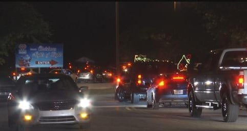 Mobile Police say a chase lead them into the Christmas Nights of Lights Saturday night at Hank Aaron Stadium. (Photo: Kendall Faust, FOX10 News)