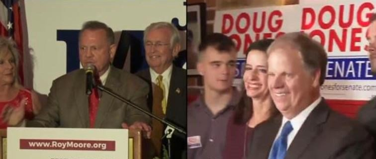 Voters in Alabama chose between Senate candidates Roy Moore, a Republican, and Democrat Doug Jones. (FOX10 News)