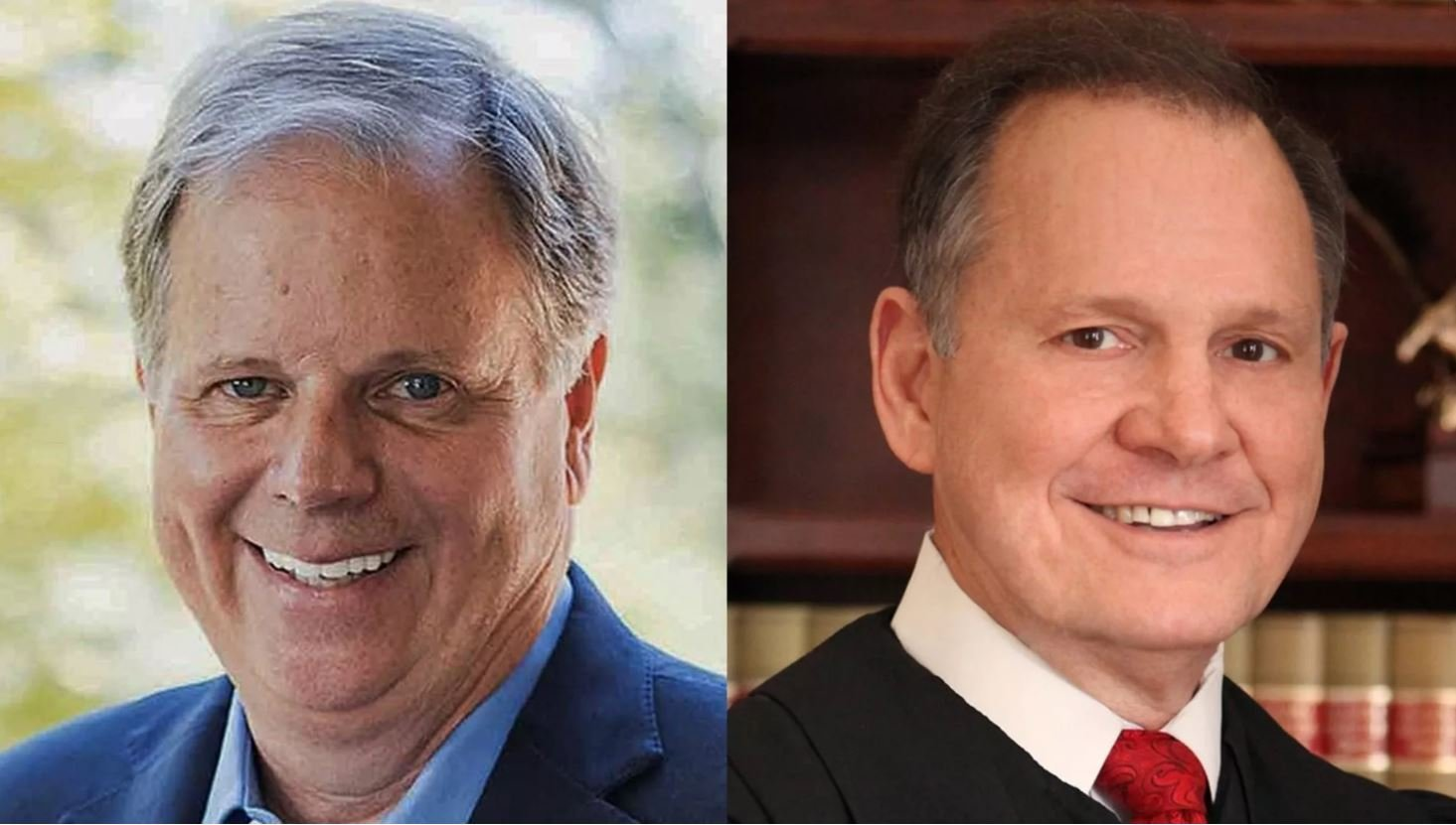 Voters in Alabama are choosing between Senate candidates Roy Moore, a Republican, pictured at right, and Democrat Doug Jones.