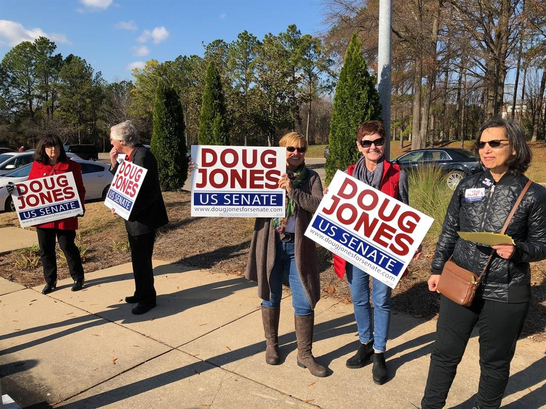 Doug Jones supporters rally for votes at Bessemer Civic Center (Photo: Asha Staples, Reporter)