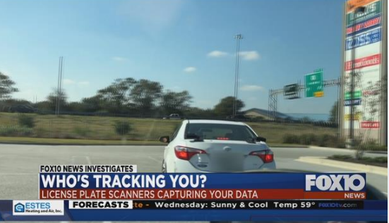 Private companies are tracking your car, FOX10 News Investigation finds. Photo: FOX10 News