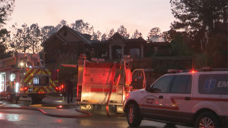 Home in Delta Woods subdivision destroyed (FOX10 News)