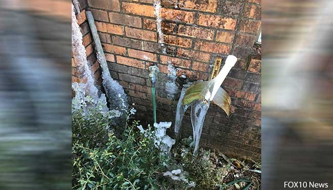 Local plumbers are expecting a busy week due to freezing temperatures throughout the area. Photo: Kendra Turley, FOX10 News