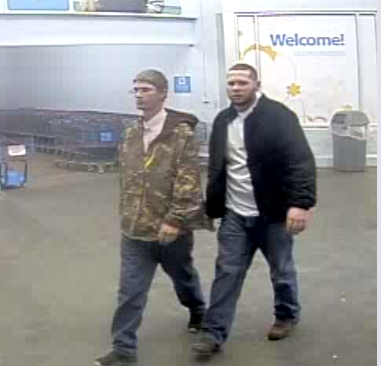 The Mobile Police Department is asking for the public's help to identify two men they say stole approximately $900 worth of merchandise from a local store. Photo: MPD
